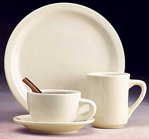 Narrow Rim White China